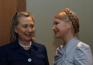 Тимошенко рассказала Клинтон об угрозах независимости Украины