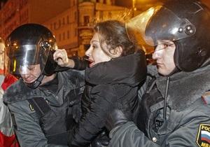 Евросоюз озабочен действиями российской полиции в отношении участников акции протеста
