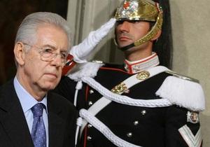 Премьер-министр Италии Марио Монти сегодня подал в отставку