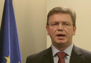 Фюле: Еврокомиссия рассчитывает, что ситуация вокруг Тимошенко разрешится после апелляции