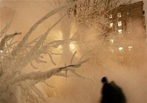 В России выпал коричневый снег