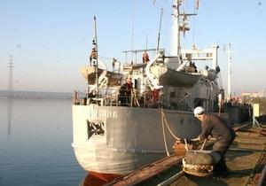 В Николаеве отремонтировали малый разведывательный корабль ВМС Украины