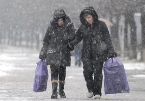 В Украину идут настоящие морозы