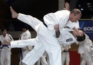 Фотогалерея: Путин на тренировке