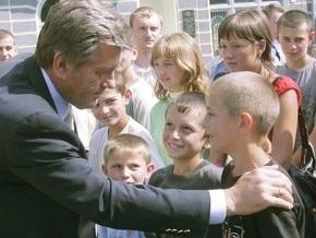 Ющенко встретится с одаренными детьми