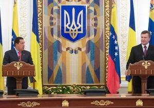 Украина и Венесуэла договорились по транзиту нефти в Беларусь. Янукович рассказал об интересах России