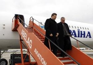СМИ: В Борисполь прибыл новый самолет Януковича
