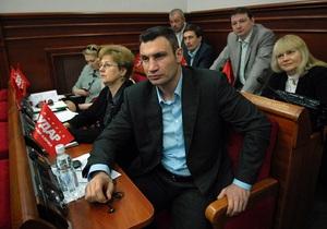 В Киевсовете фракции БЮТ и УДАР Кличко отказались голосовать по вопросам повестки дня
