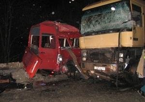 Арестован водитель микроавтобуса, попавшего в ДТП под Ровно