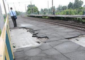 В Киеве закрыли на ремонт одну из станций городской электрички