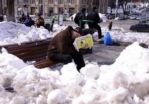 Таяние снега в Киев растянется на две недели