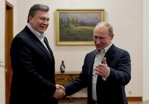 Переговоры Януковича с Путиным продолжались до двух часов ночи