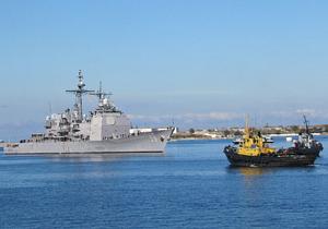 В Севастополь зашел американский крейсер, визит которого  держали в тайне