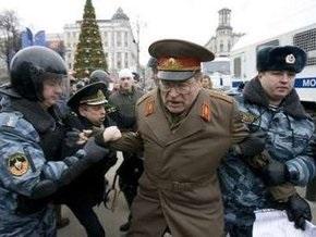 ОМОН разогнал Марши несогласных в Москве и Санкт-Петербурге