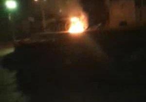 В день годовщины УПА в Киеве подожгли советский танк