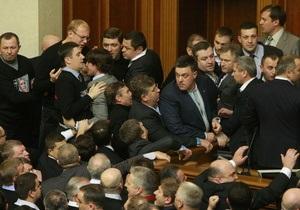 Оппозиция угрожает парализовать работу Верховной Рады