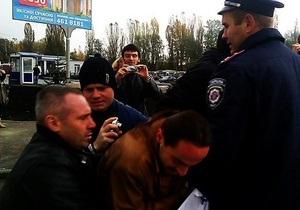 Киевская милиция рассказала свою версию конфликта возле станции метро Ипподром
