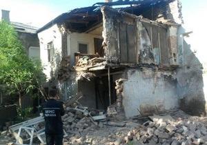 новости Харькова - В центре Харькова обрушилась стена жилого дома