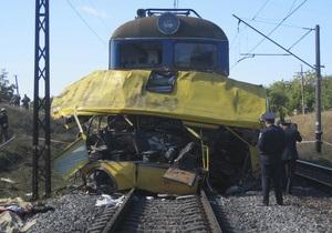 Фотогалерея: Билет в один конец. В Днепропетровской области автобус столкнулся с локомотивом (обновлено)