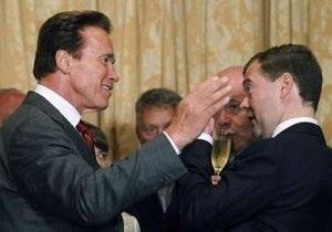 В Сан-Франциско Медведев встретился со Шварценеггером