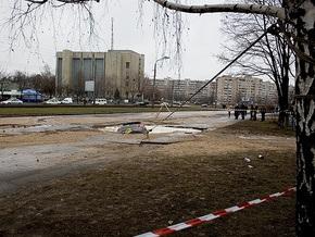 В Киеве на Борщаговке утонула машина