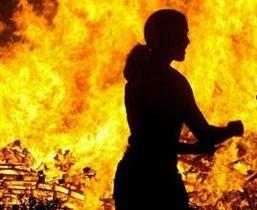 Киевлянка спасла дочку во время пожара
