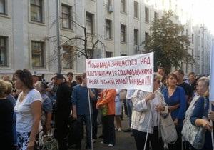 Пострадавшие в результате строительной аферы в Киеве просят помощи у Банковой