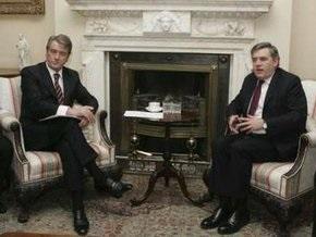 Ющенко и Браун обсудили ситуацию на газовом рынке