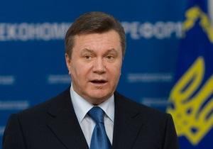 Янукович c первого раза записал новогоднее обращение