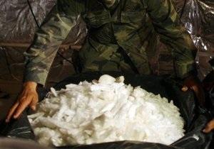 Австралийская полиция обнаружила в китайском асфальтоукладичке наркотиков на четверть миллиарда долларов