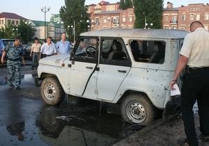 В  Грозном террорист-смертник подорвал себя во время задержания