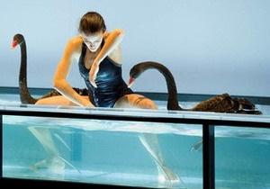 В Париже поставили балет с участием живых лебедей