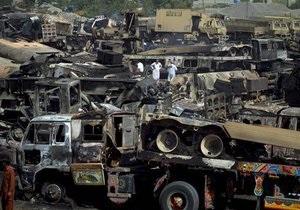 Талибы обстреляли и подожгли грузовики НАТО в пригороде Исламабада