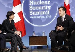 На ядерном саммите Саакашвили рассказал, как в Грузии перехватили контрабандный уран