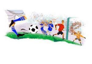 На Google и YouTube поставили футбольные логотипы
