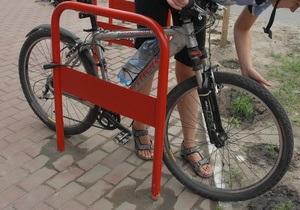 В Киеве появилась первая велосипедная дорожка