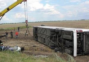 По факту ДТП с автобусом Донецк - Прага возбуждено уголовное дело