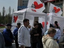 БЮТ установил на Майдане 50 агитационных палаток