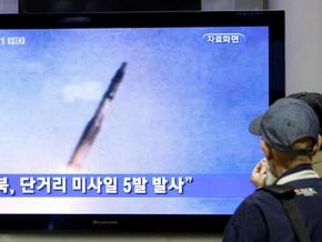 КНДР запустила пять ракет малой дальности