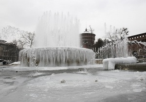 В Италии в результате рекордных морозов погибли 36 человек