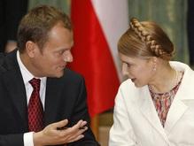 Туск поблагодарил Тимошенко за конструктивную позицию по конфликту в Грузии