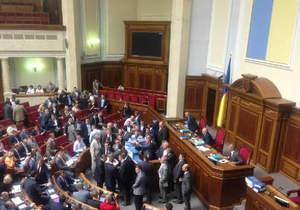 Оппозиция устроила демарш в связи с посланием Януковича
