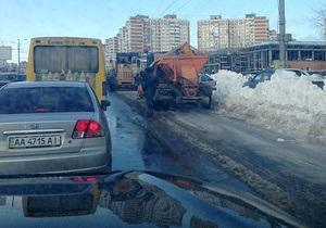 новости Киева - ГАИ - паводки - Столичная ГАИ определила 33 участка дорог, которым грозит подтопление