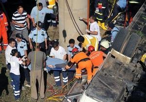 Фотогалерея:  Трагедия в Анталье. Автобус с российскими туристами упал в реку