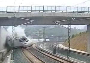 В интернете появилось видео момента крушения поезда в Испании