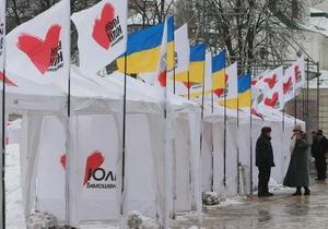 Опрос: Рейтинг Батьківщини впервые опередил рейтинг Партии регионов