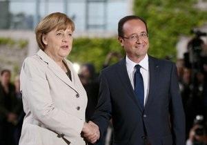 Олланд хочет работать с Германией  на благо Европы