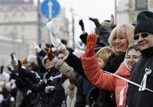 В Москве состоялась акция оппозиции Проводы политической зимы. Вход на Красную площадь перекрыт