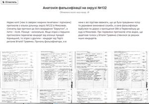 Анатомия фальсификации: Москаль выложил в Facebook фото протоколов из округа №132