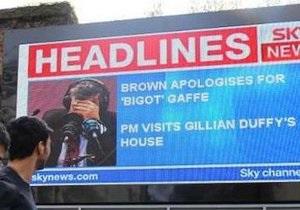 Браун  извинился за нелестные ремарки в адрес избирательницы